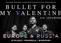 Bullet For My Valentine, Lion Shepherd w Warszawie