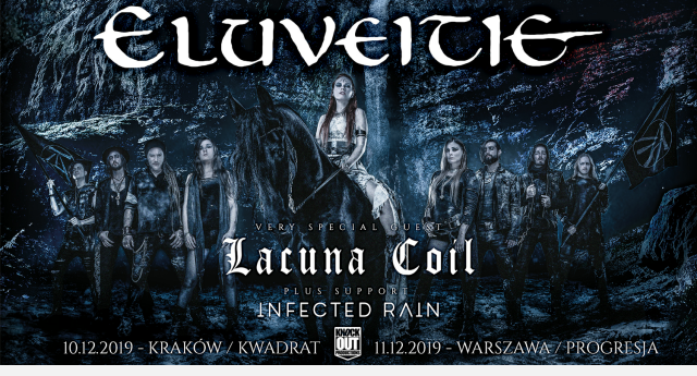 Eluveitie, Lacuna Coil, INfected Rain Koncerty