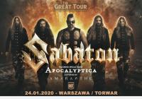 Sabaton, Apocalyptica, Amaranthe w Warszawie