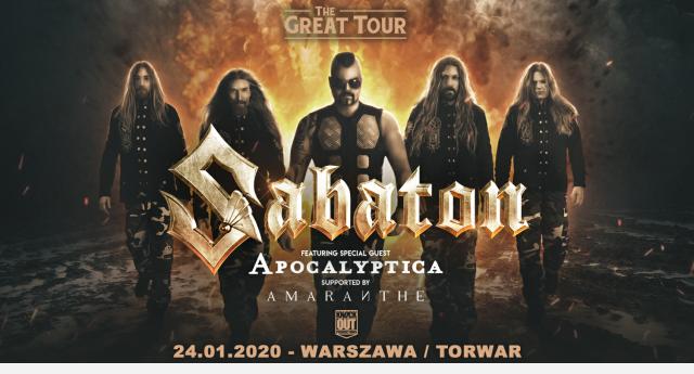 Sabaton Apaocalyptica Amaranthe Warszawa