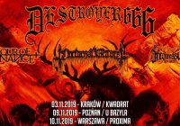 DESTRÖYER 666, Hour Of Penance, Nocturnal Graves, Inconcessus Lux Lucis w Krakowie