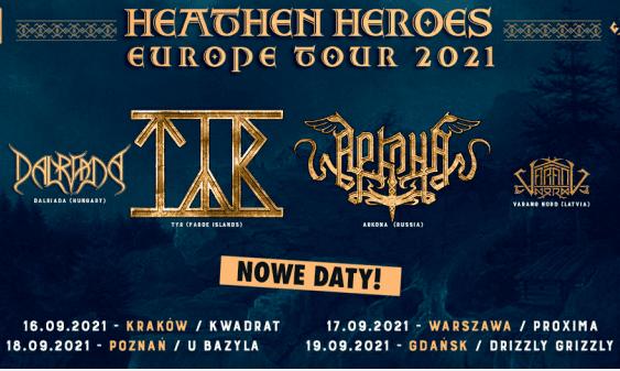 Tyr Arkona nowe daty koncertów