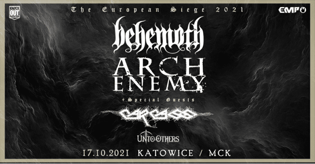Behemoth, Arch Enemy, Carcass koncerty