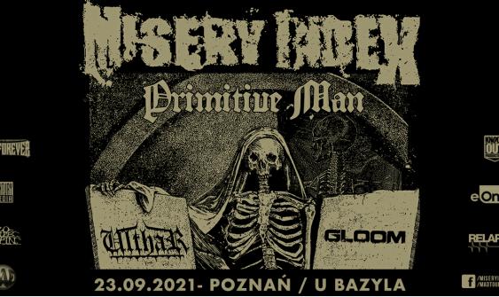 Misery Index, Primitive Man koncert, Poznań