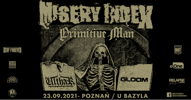 Misery Index, Primitive Man koncert, Poznań