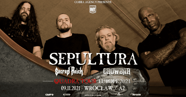 Sepultura, Sacred reich, Crowbar - Koncert, Wrocław