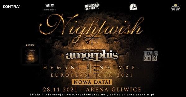 Nightwish, Amorphis - nowa data koncertu