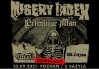 Misery Index w Polsce: Koncert odwołany