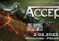 Accept Too Mean To Die 2022 Tour w Warszawie
