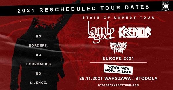 Lamb Of God, Kreator - Powertrip - koncert polska